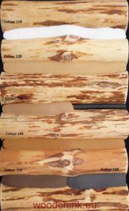 Sampler of colours woodchink sealnts